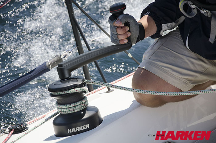 Harken winches are of the best quality possible. We sell both self-tailing and plain top winches.
