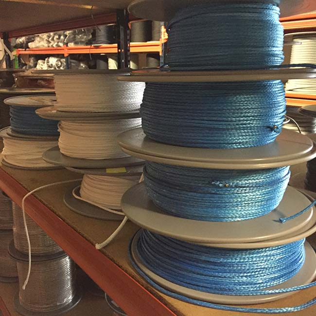 Ropes for the industry: spools of Dyneema