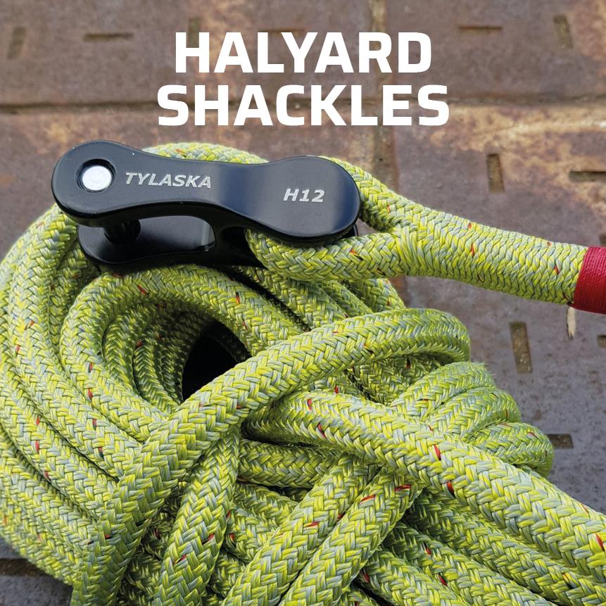 Tylaska halyard shackles