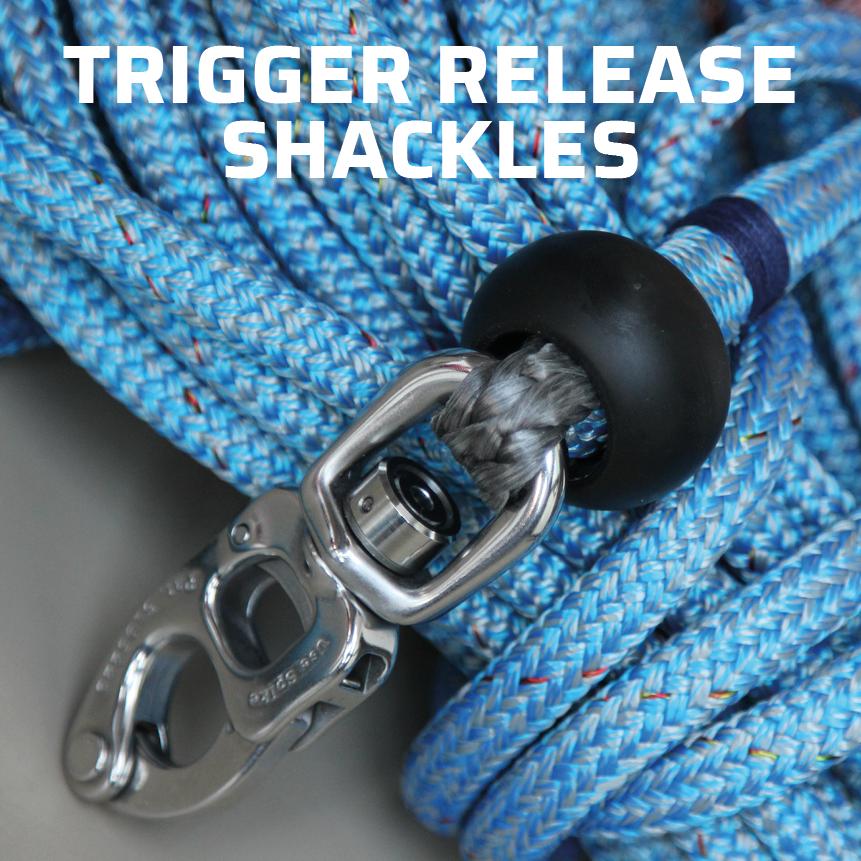Tylaska trigger release shackles