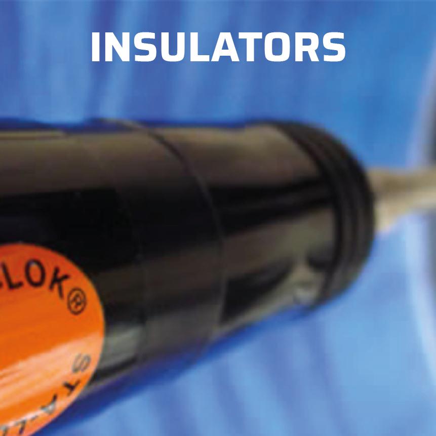Sta-lok insulators for radio antenna