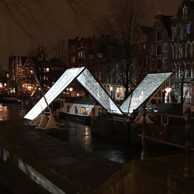Ropes art project - Amsterdam Light Festival