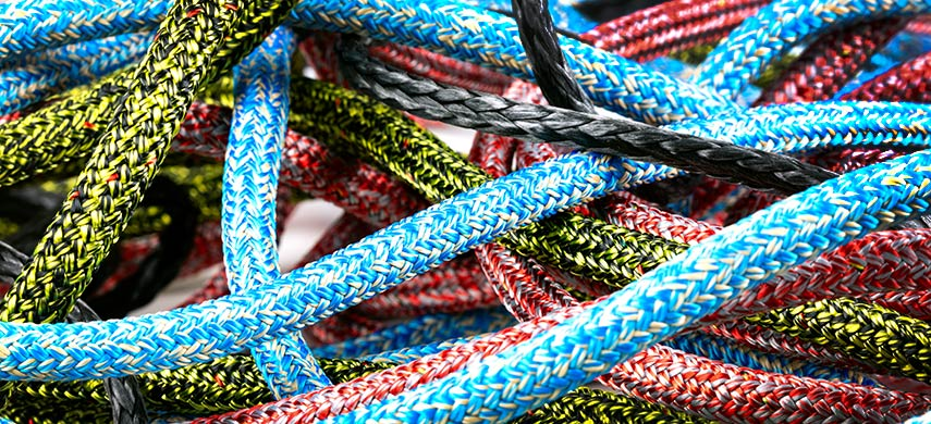 Ropes for boats - dyneema - stirotex - polyester